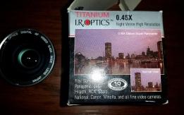 I.R. Optics Titanium 0.45x széles látószögű optika kamerához